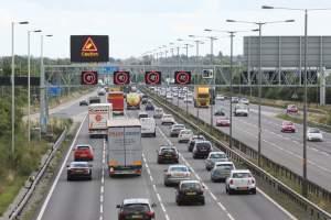 busy smart motorway