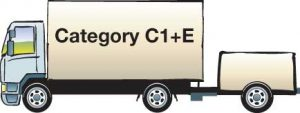 Licence Category C1 + E Vehicle